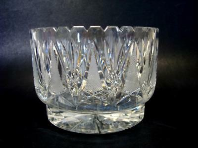 Gorgeous Cut Glass Crystal Centerpiece Bowl - 4'' Tall