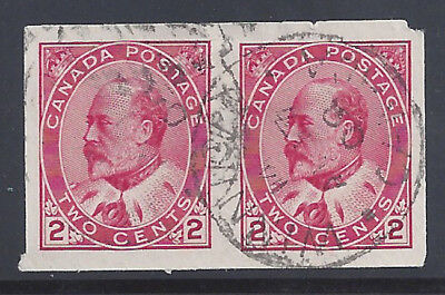 Canada Stamp 1903 2c King Edward VII Imperforate (#90A) Pair U $100