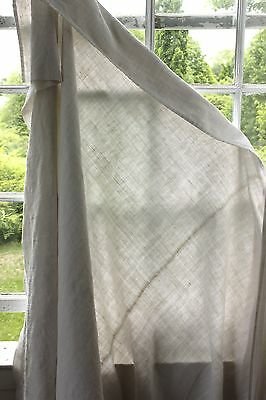 Antique French linen sheet old linen 76X98 washed metis linen cotton STRIATED