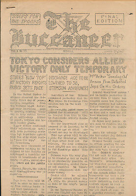 WWII Aug 17 1945 10th Army,  Okinawa BUCCANEER Newspaper - Japanese surrender