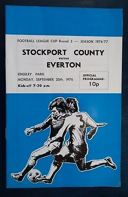 STOCKPORT COUNTY v EVERTON 1976 - 1977 League Cup Round 3