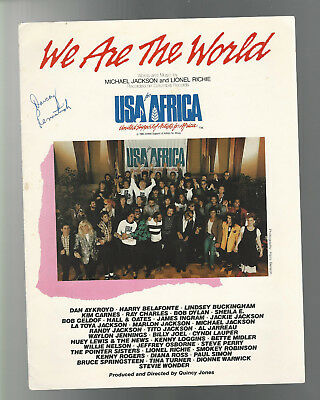 SHEET MUSIC BLACK AMERICANA 1985 USA for AFRICA WE ARE THE WORLD Michael Jackson