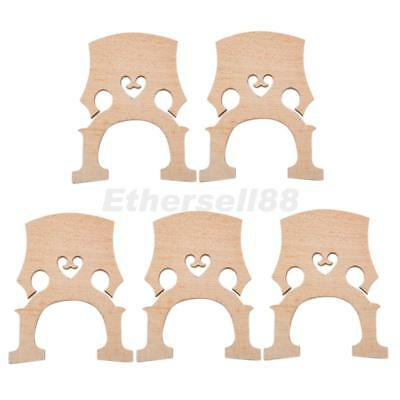 5pcs 1/8 Cello Replacement Aged Maple Fitted Bridge for Stage Practice Parts