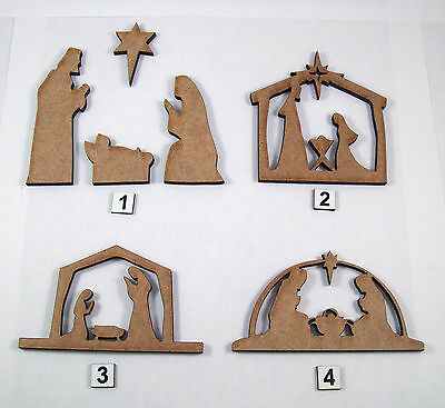 Nativity MDF Laser cut outs,christmas decoration, embellishment, craft making