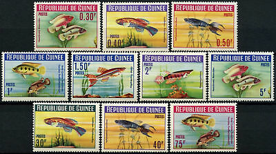 Guinea 1964 SG#414-423 Fishes 30c-75f MNH Postage Set #D58293
