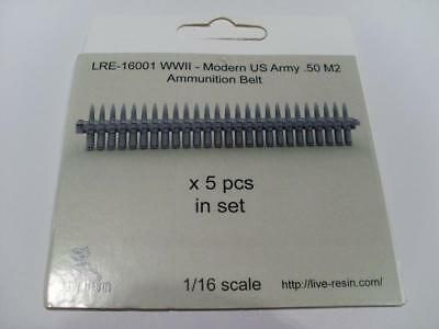 Live Resin LRE-16001 WWII Modern US Army 0.50 M2 Ammo Belt 1:16 Scale RC Tank