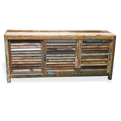 Reclaimed Indian Cabinet W/ Sliding Doors Sideboard TV Stand Rustic Wood