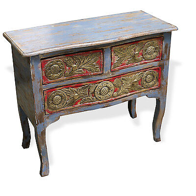 Cabinet TV Stand Rustic Reclaimed Wood W/ Patina Brass Nightstand table