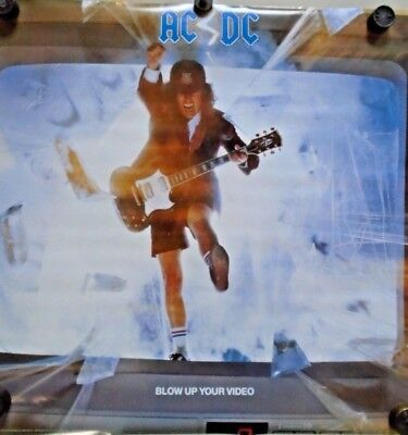"""AC/DC / Original Vintage promo Poster / New cond. / 24 x 24"""" Blow up your Video"""