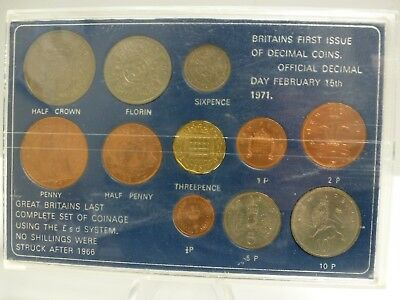 GREAT BRITAIN'S LAST COMPLETE SET OF COINAGE USING THE £.s.d. !!! 11-COINS !!!