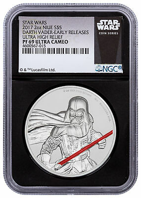 2017 Niue Star Wars Darth Vader UHR 2 oz Silver NGC PF69 UC ER Black SKU49468