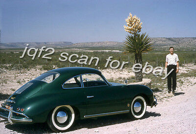 2 1957 Kodachrome Slides PORSCHE 356 - Texas