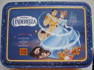 Walt Disney Cinderella Holiday Tin Capture the Magic 1995 Commemorative Kodak