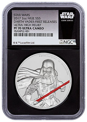 2017 Niue Star Wars - Darth Vader UHR 2 oz Silver NGC PF70 UC FR Black SKU49473