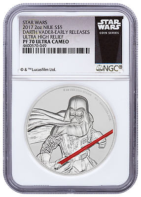 2017 Niue Star Wars - Darth Vader UHR 2 oz Silver NGC PF70 UC ER SKU49474