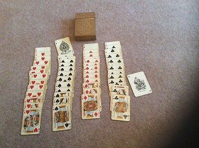 vintage Goodall London playing cards in wooden box