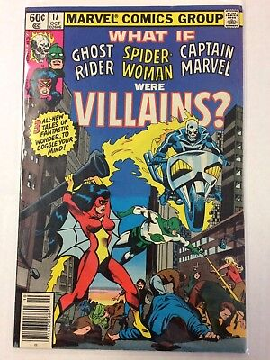 What If #17 Comic Book Marvel 1979 Ghost Rider Spider-Woman Captain Marvel