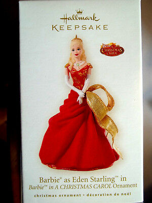 BARBIE as EDEN STARLING,Yr 2008 Hallmark Ornament,A CHRISTMAS CAROL