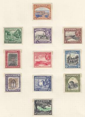 Cyprus # 125-135 Vf-Mlh Kgv Issues Cat Value $232