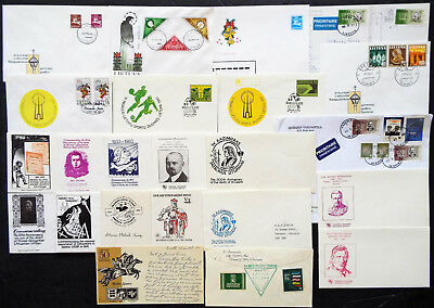 24 COVERS FROM LITHUANIA FDCs POSTCARDS CACHETS