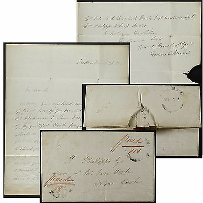 Francis N Burton Lieutenant Governor of LC,Quebec 1823 letter to Thomas Philipps