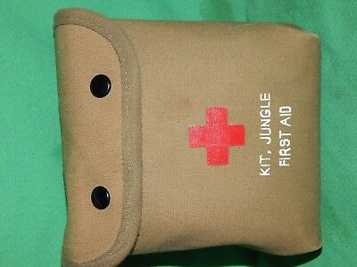 M-1 Jungle First Aid Kit, Loaded! 1959, 1967, and up, 16 ITEMS!