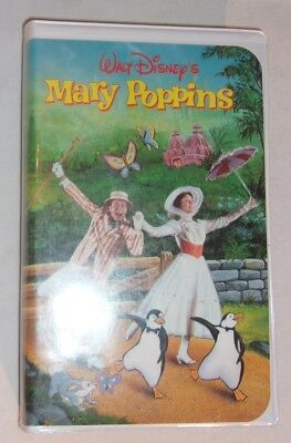 Rare Walt Disney's Mary Poppins Vhs Clam Shell Case Sorcerer Mickey Label