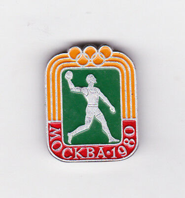 Moscow 1980 Olympics Discus Pin Back Type Pin