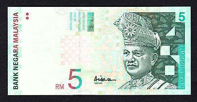 Malaysia 5 Ringgit  ND 1999  UNC Note  P. 41a  AF9555261
