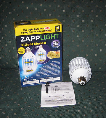 ZappLight - The Light Bulb That Kills Flying Insects & Mosquitoes!  Zapp Light