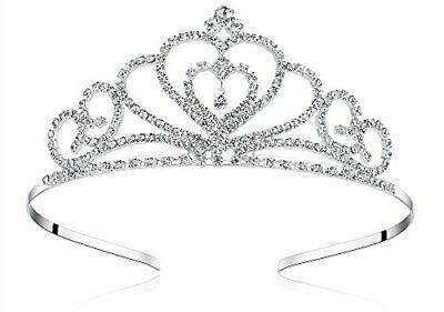 Lovelyshop Rhinestone Crystal Tiara-Wedding Bridal Prom Birthday Pegeant