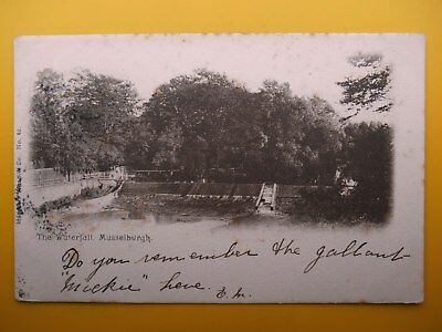 Waterfall MUSSELBURGH Midlothian 1903 D J Mitchell Electricity Works Kirkcaldy