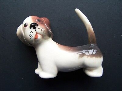 Vintage China Dog Figure-Made In England &  Stamped 1086 Or 1088 Underneath