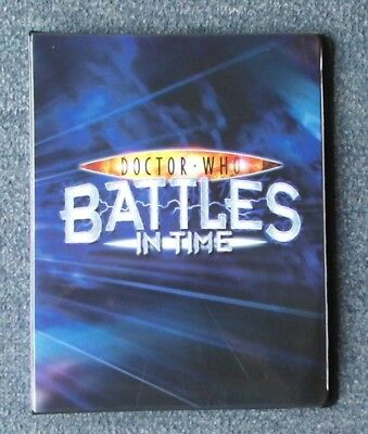 Dr Doctor Who Official Large BATTLES IN TIME Trading Card Album Folder Binder