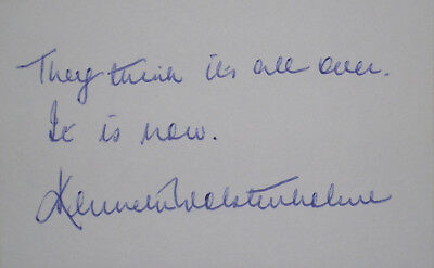 England 1966 World Cup Kenneth Wolstenholme Signed card autograph commentator