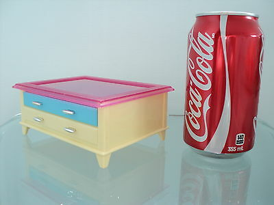 Mattel 2002 Coffee Table With Drawer Furniture For/fits Barbie Dollhouse Doll
