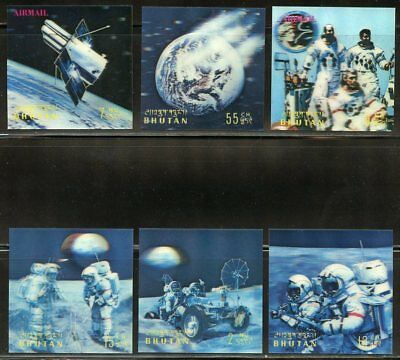 Bhutan Scott#151/151E Conquest Of Space 3-D   Stamps  Mint Hinged