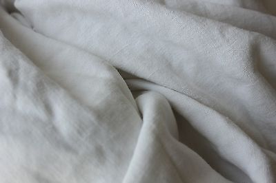 Antique Sheet French handwoven linen 84X113 washed linen finely woven off