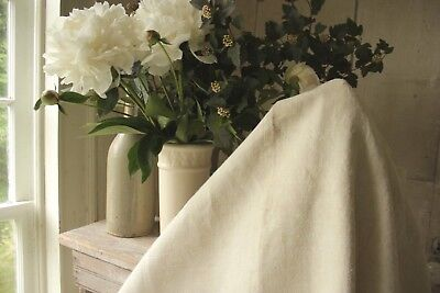 Linen sheet French warm toned 19th century heavy weight 82X64 old fabric