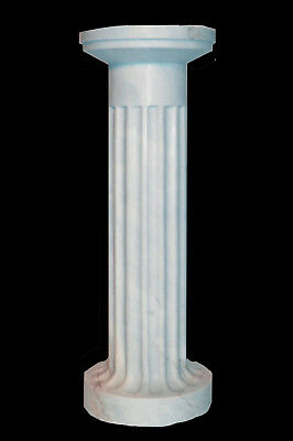 Hand Carved Marble Pedestal, Italian Design