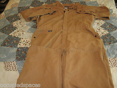 Bulwark PBI Gold FRC Coveralls With Zippers In The Legs- 46T - Preowned