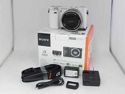 Sony Alpha A6000 Mirrorless Digital Camera with 16-50mm Lens White UU
