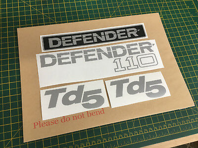 Land Rover Defender 110 Decal Stickers TD5 set Replacement Remanufactured.
