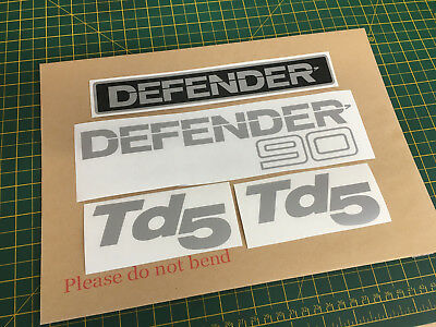 Land Rover Defender 90 Decal Stickers TD5 set Replacement Remanufactured.