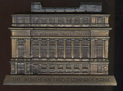 Banthrico Figural Building Bank, Norther Trust Co. Bank, Chicago, Il. W/keys