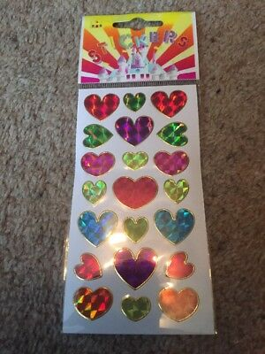 50 x Packs Of Heart Stickers