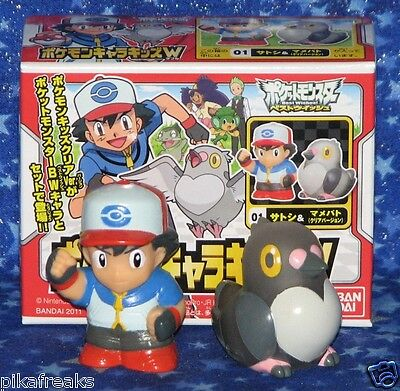 New Pokemon Ash Ketchum with Pidove Poke Kids Character Series Mini Figures USA