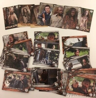 LOT of (59) THE WALKING DEAD Topps Trading Cards 2017 Alexandria Zombies