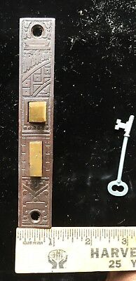 Vintage East Lake Victorian Side Of Door Mortise Lock W Skeleton Key Brass Bolts