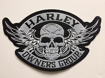 Harley Owners Group XXL skull Iron on/ Sew on Patch HOG Biker Motorcycle